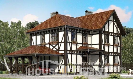 Проект дома 183м², жилая площадь 90м²