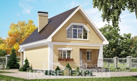 Проект дома 130м², жилая площадь 81м²