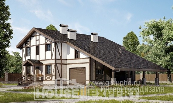 Проект дома 249м², жилая площадь 112м²