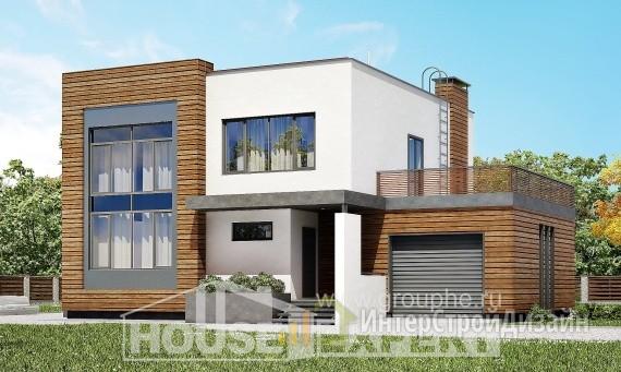 Проект дома 211м², жилая площадь 82м²