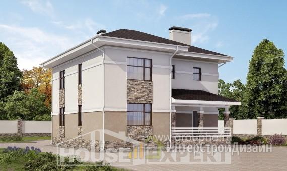 Проект дома 151м², жилая площадь 77м²