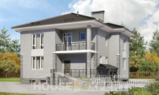 Проект дома 276м², жилая площадь 102м²