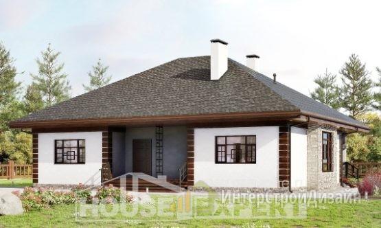 Проект дома 136м², жилая площадь 62м²
