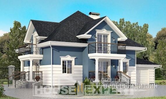 Проект дома 182м², жилая площадь 86м²