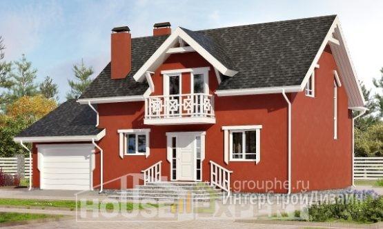 Проект дома 180м², жилая площадь 72м²