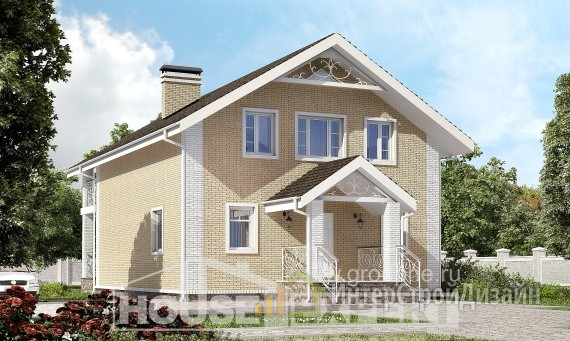 Проект дома 145м², жилая площадь 76м²
