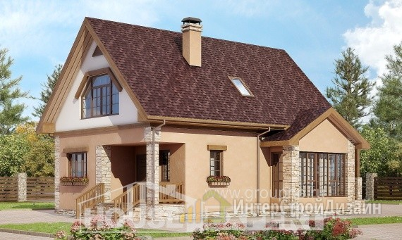 Проект дома 140м², жилая площадь 93м²