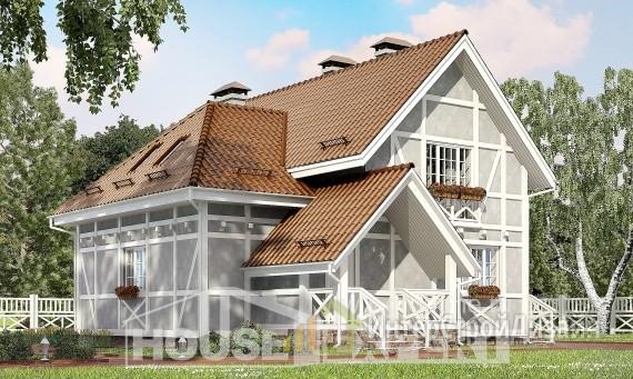 Проект дома 162м², жилая площадь 73м²