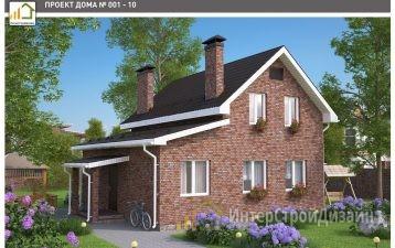 Двухэтажный дом из газобетонных блоков 105 м²