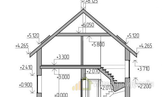 Двухэтажный дом из газобетонных блоков 107 м²