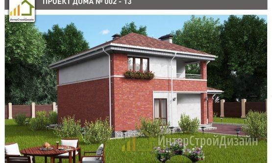 Строительство 2х этажного дома из керамзитобетонных блоков 177м²