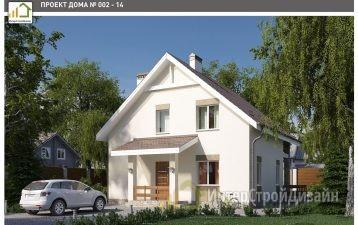 Двухэтажный дом из керамзитобетонных блоков 143 м²