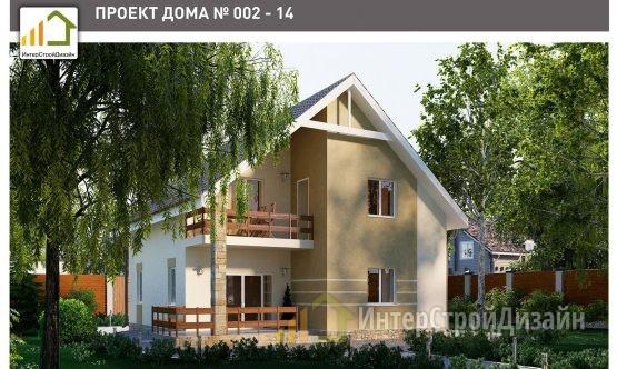 Строительство 2х этажного дома из керамзитобетонных блоков 143м²