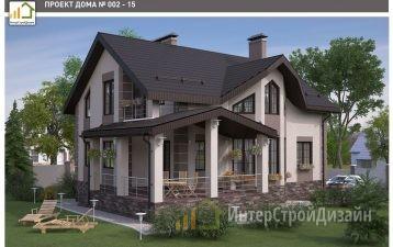 Строительство 2х этажного дома из газобетонных блоков 205м²