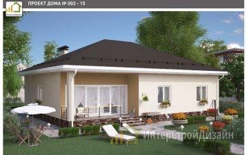 Одноэтажный дом из газобетонных блоков 148 м²