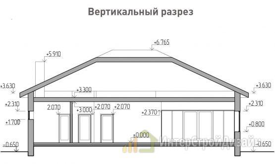 Строительство одноэтажного дома из газобетонных блоков 148м²