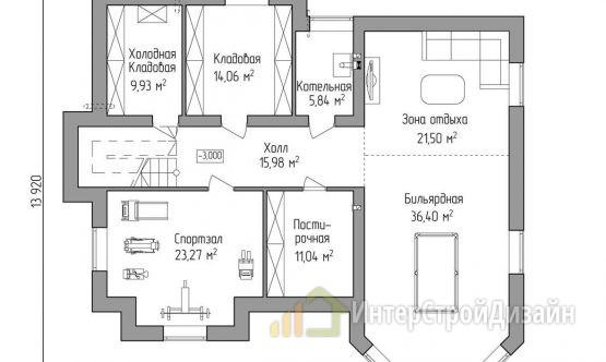 Двухэтажный дом из газобетонных блоков и кирпича 403 м²