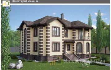 Строительство 2х этажного дома из газобетонных блоков 403м²