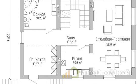 Строительство 2х этажного дома из газобетонных блоков 226м²