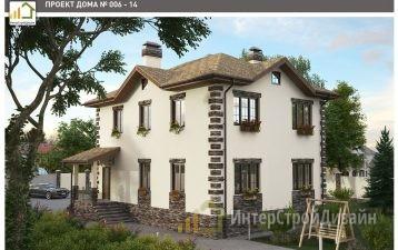 Двухэтажный дом из газобетонных блоков и кирпича 226 м²