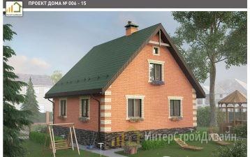 Двухэтажный дом из кирпича 111 м²