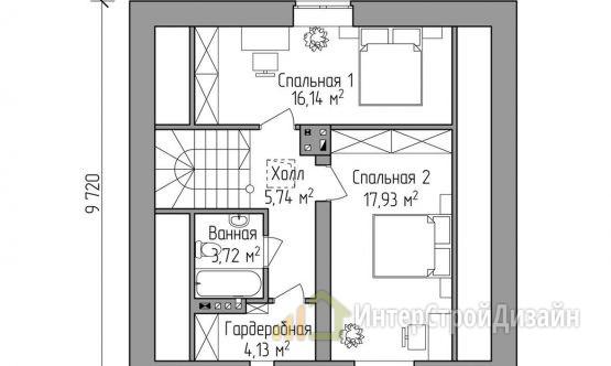 Строительство 2х этажного дома из кирпича 111м²