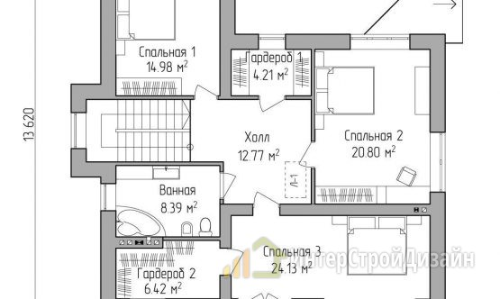 Строительство 2х этажного дома из керамических блоков 205м²