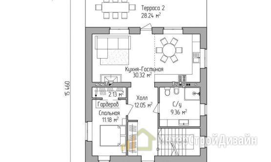 Строительство 2х этажного дома из керамических блоков 211м²