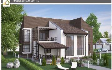 Строительство 2х этажного дома из керамических блоков 214м²