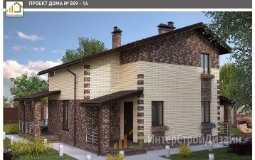 Двухэтажный дом из керамзитобетонных блоков 120 м²