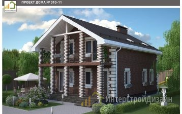 Строительство 2х этажного дома из ккерамзитобетонных блоков 150м²