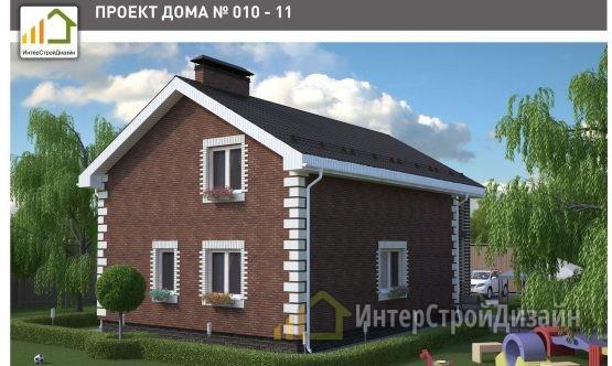 Двухэтажный дом из керамзитобетонных блоков с мансардой 150 м²