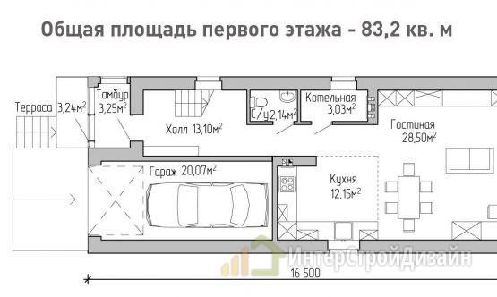 Строительство 2х этажного дома из керамзитобетонных блоков 148м²