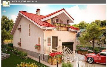 Двухэтажный дом из керамзитобетонных блоков с мансардой 148 м²