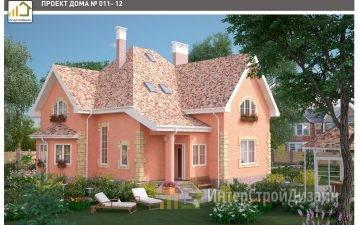 Двухэтажный дом из газобетонных блоков и кирпича 259 м²