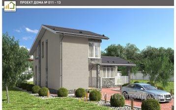 Строительство 2х этажного дома из газобетонных блоков 102м²