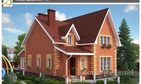Двухэтажный дом из керамзитобетонных блоков 179 м²