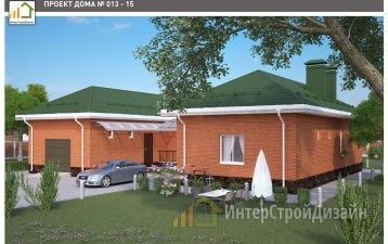 Одноэтажный дом из газобетонных блоков 182 м²