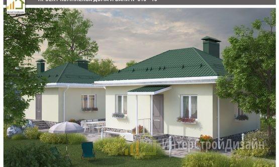 Одноэтажный дом из газобетонных блоков 79 м²