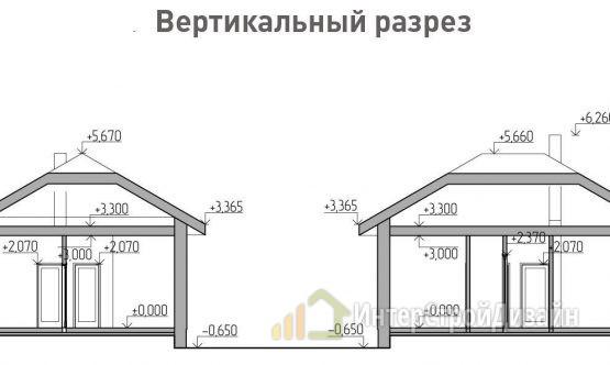 Строительство одноэтажного дома из газобетонных блоков 79м²