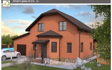 Двухэтажный дом из газобетонных блоков и кирпича 176 м²