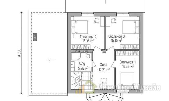 Строительство 2х этажного дома из газобетонных блоков 176м²