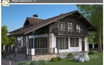 Двухэтажный дом из керамических блоков и кирпича 297 м²