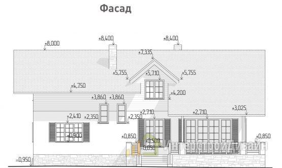 Строительство 2х этажного дома из керамических блоков 297м²