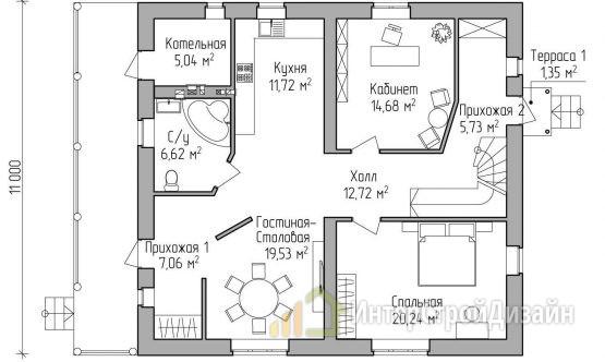 Строительство 2х этажного дома из газобетонных блоков 179м²