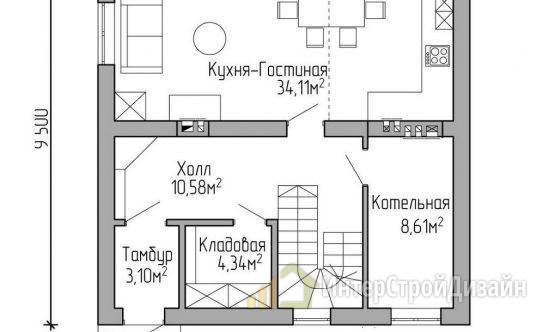 Строительство 2х этажного дома из газобетонных блоков 125м²