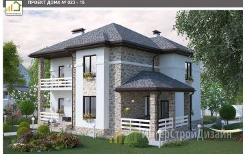Строительство 2х этажного дома из газобетонных блоков 200м²