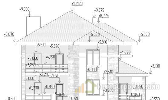 Двухэтажный дом из газобетонных блоков 200 м²