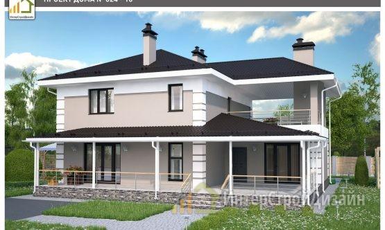 Строительство 2х этажного дома из керамзитобетонных блоков 212м²