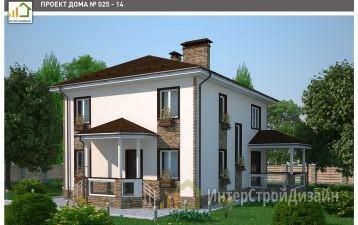 Строительство 2х этажного дома из керамических блоков 173м²